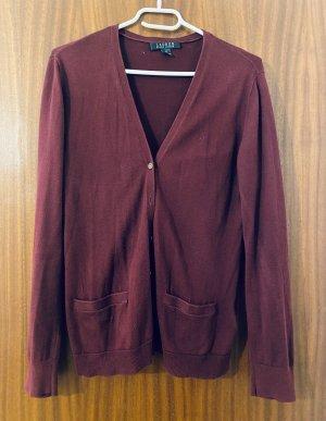 Lauren by Ralph Lauren Knitted Vest bordeaux cotton