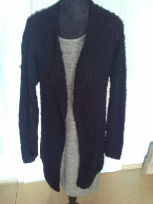 Amisu Long Knitted Vest black polyester