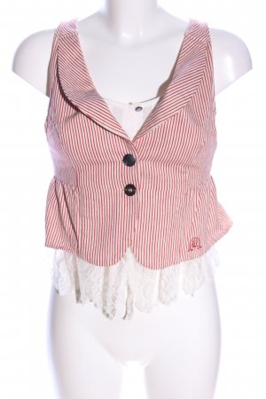 Knitted Vest striped pattern casual look