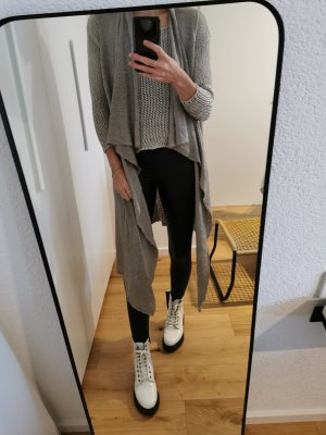 H&M Crochet Sweater grey-beige