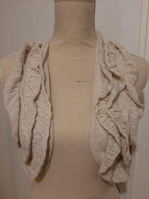 10 FEET Gilet tricoté blanc cassé