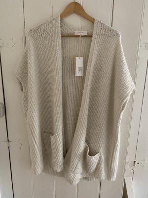 American Vintage Cardigan tricotés blanc cassé