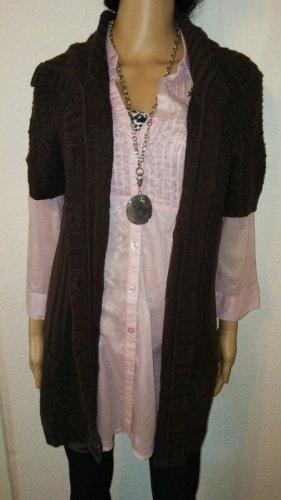 Cecil Short Sleeve Knitted Jacket brown-dark brown