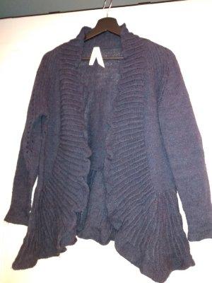 Summum Chaleco de punto azul oscuro lana de alpaca