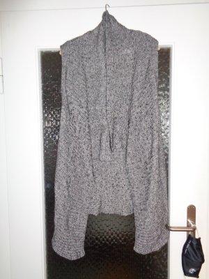Yaya Knitted Coat black-dark grey cotton