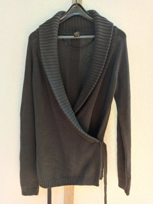 esprit collection Knitted Wrap Cardigan dark brown