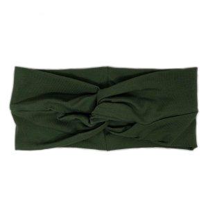 Cache-oreilles vert foncé coton
