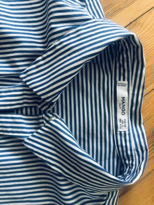 Striped blouse white and blue Suit Mango