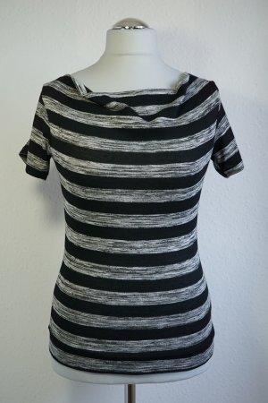 Stripes: T-Shirt schwarz weiß meliert gestreift