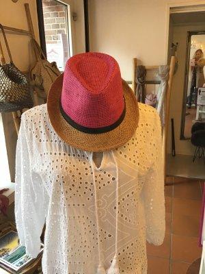 Cappello di paglia multicolore Tessuto misto