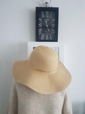 H&M Sombrero de paja color oro-beige claro