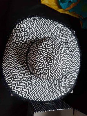 Isla Ibiza Bonita Chapeau de paille noir-blanc