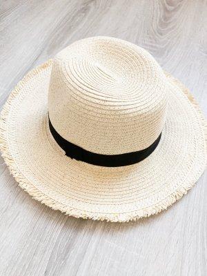 Cappello di paglia bianco sporco