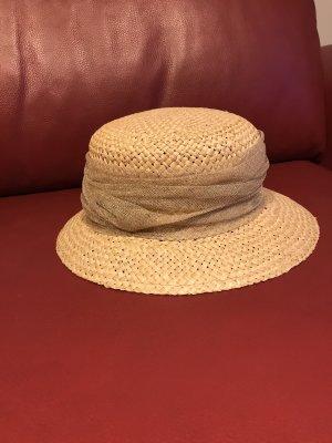 Chapeau de paille crème-doré