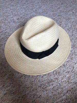 H&M Cappello di paglia nero-crema