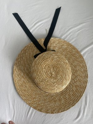 Forever 21 Straw Hat black-pale yellow