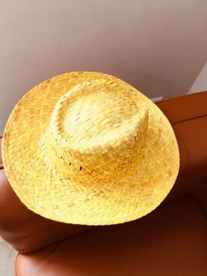 Straw Hat sand brown-gold-colored