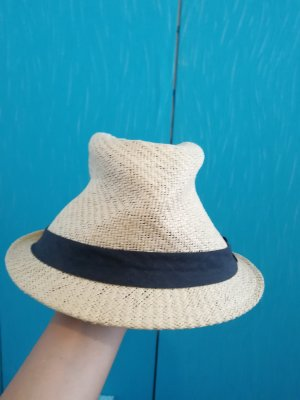 Straw Hat black-cream