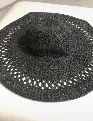 H&M Hoed van stro zwart