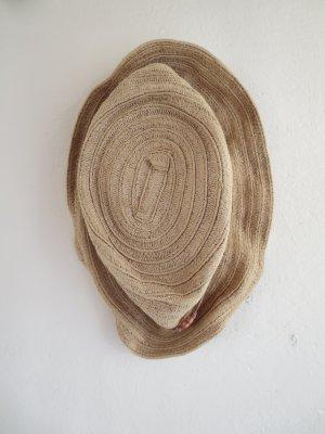 H&M Cappello di paglia marrone chiaro Tessuto misto