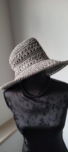 Straw Hat silver-colored cotton