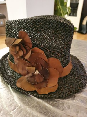 Patricia Pepe Straw Hat black-light brown