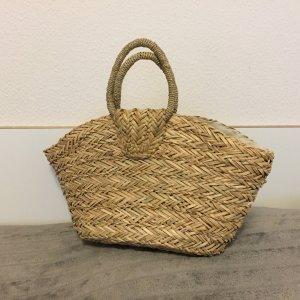 Strohtasche Strandtasche beige