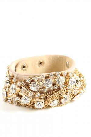 Stroili Oro Bransoletka w kolorze białej wełny-złoto Elegancki