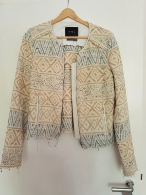 Oui Blazer in pelle multicolore