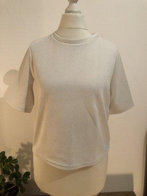 Strukturiertes Tshirt | weiß