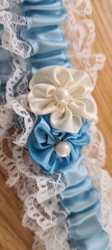Strumpfband blau Braut Hochzeit