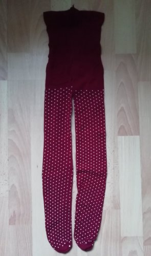 Legwarmers dark red polyamide