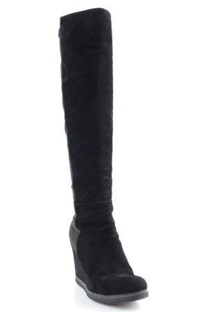 Stuart weitzman Absatz Stiefel schwarz Elegant