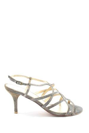 Stuart weitzman Hoge hakken sandalen zilver extravagante stijl