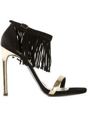 Stuart weitzman High Heel Sandaletten schwarz-goldfarben Casual-Look