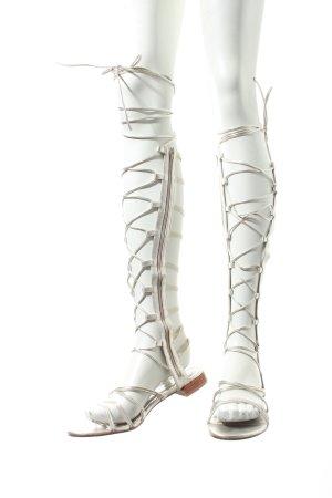 Stuart weitzman Römer-Sandalen silberfarben extravaganter Stil