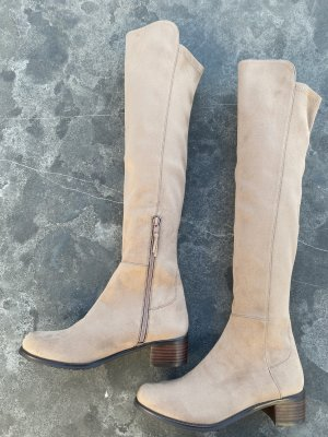 Stuart weitzman Stretch Boots beige leather