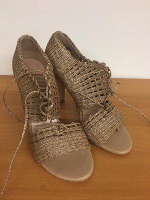 Stuart Weitzman Textil Leder Schuhe 39