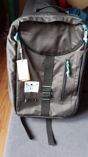 Chiemsee Laptop Backpack dark grey-light blue