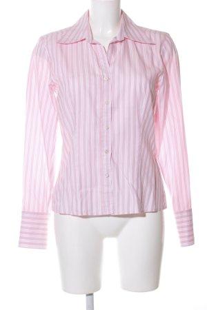 Studio Langarm-Bluse pink-weiß Streifenmuster Casual-Look