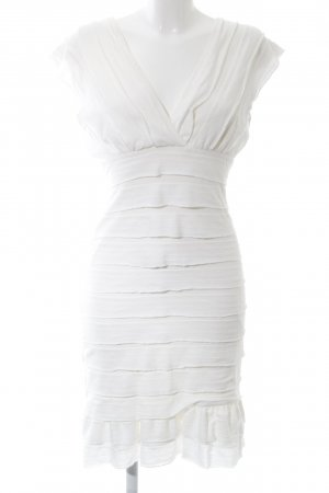 Studio M Vestido estilo flounce blanco elegante