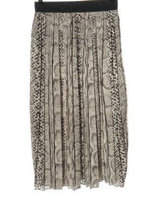 Studio Falda midi blanco puro-negro estampado repetido sobre toda la superficie