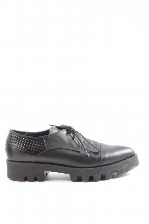Studio pollini Zapatos Oxford con puntera negro estilo «business»