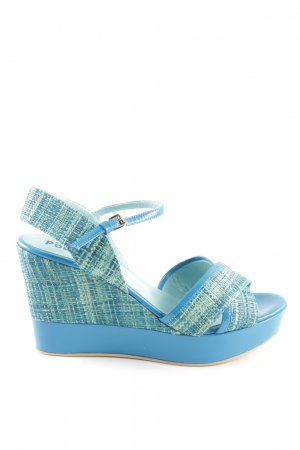 Studio pollini Wedges Sandaletten Karomuster Business-Look