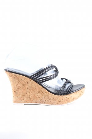Studio pollini Wedge Sandals black casual look