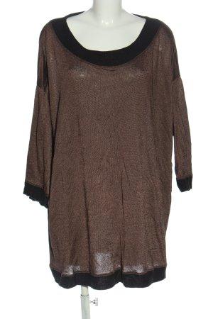 Studio Blusa caída marrón-negro look casual