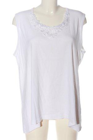 Studio Camiseta sin mangas blanco look casual