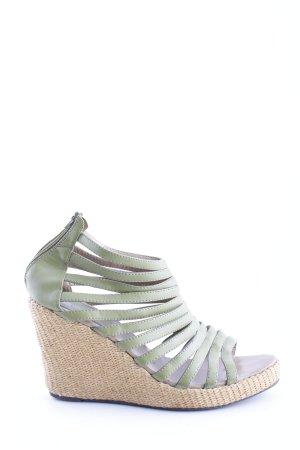 studio W Wedges Sandaletten khaki-wollweiß Casual-Look