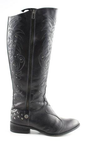 studio W Boots western noir style décontracté
