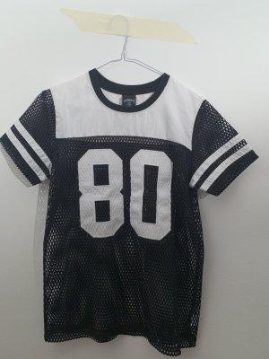 Stüssy Siateczkowa koszulka czarny-biały